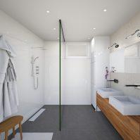 Hors Chateau penthouse - 1er salle de bain