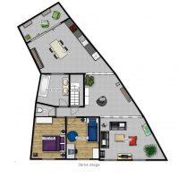Hors Chateau penthouse - Plan 3D