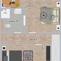 Feronstrée - Appartement 5 - Plan 2D étage