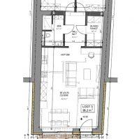 Feronstrée - Appartement 3 - Plan architecte