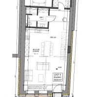 Feronstrée - Appartement 5 - Plan architecte