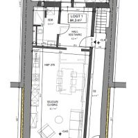 Feronstrée - Appartement 1 - Plan architecte
