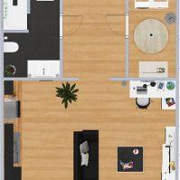Feronstrée - Appartement 3 - Plan 2D