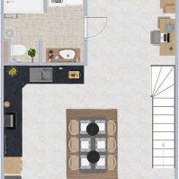 Feronstrée - Appartement 5 - Plan 2D